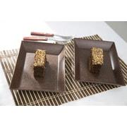 EVO Sustainable Goods Serving Dish (Set of 2); Dark Brown