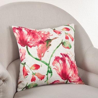 Saro Floral Throw Pillow