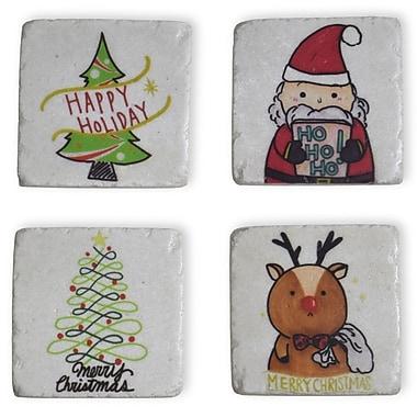 Boston International Christmas Icons Coaster Set (Set of 4)