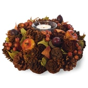 Boston International Fall Berries Candle Wreath