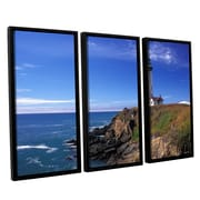 ArtWall Pigeon Point Lighthouse by Kathy Yates 3 Piece Framed Photographic Print Set