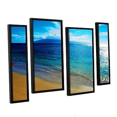 ArtWall Blue Hawaii by Kathy Yates 4 Piece Framed Photographic Print Set; 36'' H x 54'' W x 2'' D