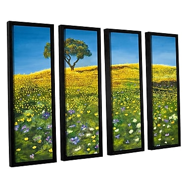 ArtWall Golden Meadow by Marina Petro 4 Piece Framed Painting Print on Canvas Set