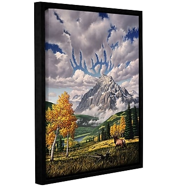 ArtWall 'Autumn Echos' by Jerry Lofaro Framed Graphic Art on Wrapped Canvas; 48'' H x 36'' W