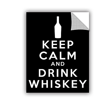 ArtWall Keep Calm and Drink Whiskey by Art D Signer Kcco Textual Art in Black; 24'' H x 32'' W