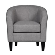 Container Barrel Chair; Grey