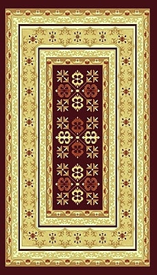 Bekmez International Inc. Elif/Passion Red Area Rug; 5'3'' x 7'3''