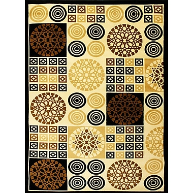 Bekmez International Inc. Super Belkis Black Area Rug; 7'10'' x 10'2''