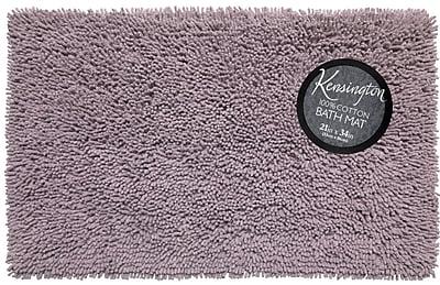 Ben and Jonah Shaggy Cotton Chenille Bath Rug; Purple