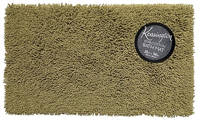 Ben and Jonah Shaggy Cotton Chenille Bath Rug; Sage