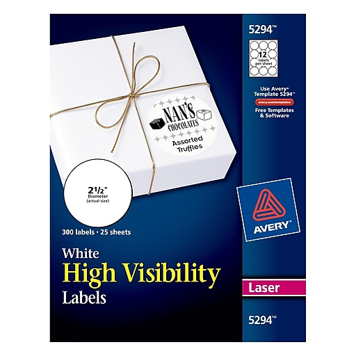Avery 25 dia laser high visibility labels white 25pack 5294 httpsstaples 3ps7is saigontimesfo