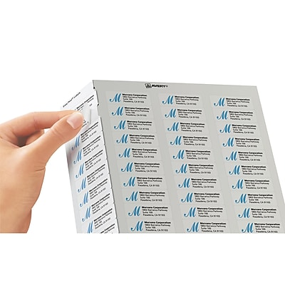 avery 1 u0026quot  x 2 5  8 u0026quot  5160 laser address labels with easy peel  white  3 000  box