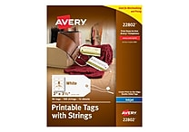 Avery Printable Tags with Strings, 2' x 3-1/2', Pack of 96 (22802)
