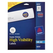 """Avery ® 8293 White Print To The Edge Mailing Label, 1 1/2""""(Dia), 400/Pack"""