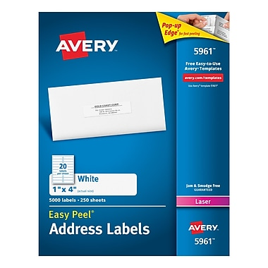Avery Laser Address Labels with Easy Peel, 1
