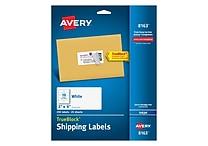 Avery 2' x 4' Inkjet Shipping Labels with TrueBlock™, White, 250/Box (8163)