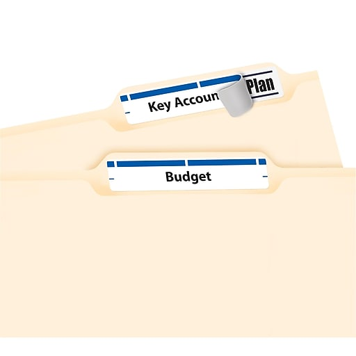 Avery Blue Permanent File Folder Labels With Trueblock 1500pack