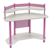 "Studio Designs™ 46"" Wood/Steel Study Corner Desk, Pink/Spatter Gray (55122)"