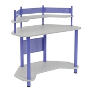 "Studio Designs™ 46"" Wood/Steel Study Corner Desk, Purple/Spatter Gray (55121)"
