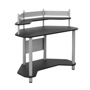 "Studio Designs™ 46"" Wood/Steel Study Corner Desk, Silver/Black (55123)"