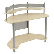 "Studio Designs™ 46"" Wood/Steel Study Corner Desk, Blue/Spatter Gray (55124)"