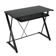"Studio Designs™ 38.25"" Steel/Glass Artesia Desk, Black (50702)"