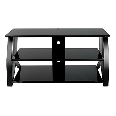 Studio Designs™ Futura Glass/Steel 3-Tier TV Stand, Black (60621)