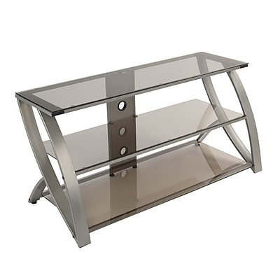 Studio Designs™ Futura Glass/Steel 3-Tier TV Stand, Bronze/Champagne (60620)