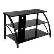 Studio Designs™ Stiletto Glass/Steel 3-Tier TV Stand, Black (60625)