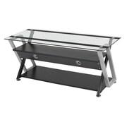 Studio Designs™ Colorado Glass/Steel 3-Tier TV Stand, Black/Silver (50705)