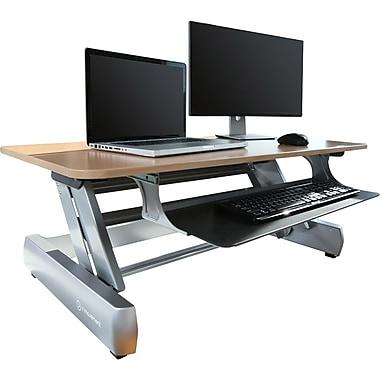 Poste de travail debout Elevate Desktop DT2 (IM-DKDESKREADY-01), 41 x 26,2 po, bois pâle