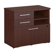 "Bush Business Furniture Emerge 30""W Storage Cabinet - Installed,HarvestCherry (300SFP30CSFA)"