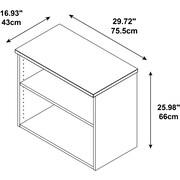 "Bush Business Furniture Emerge 30""W Bookcase - Installed,HarvestCherry (300SBK302CSFA)"
