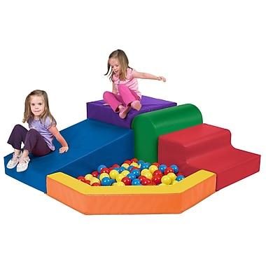 ECR4Kids® Softzone® Primary Climber with Ball Pool