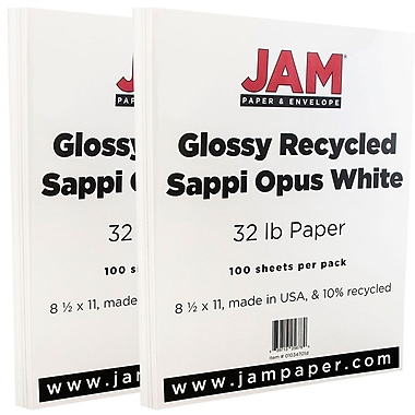 JAM Paper® Glossy Paper 2-Sided, 8.5