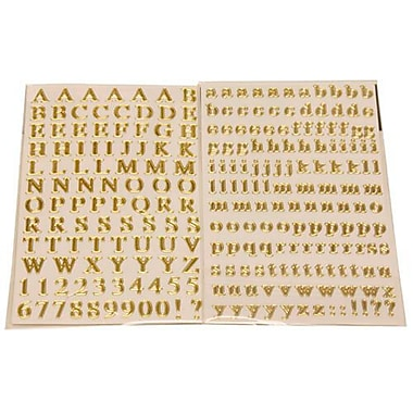JAM Paper® Self Adhesive Alphabet Letters Stickers, Gold, 10/Pack (132811516g)