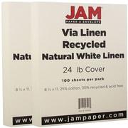 Jam PaperMD – Papier de lin Strathmore, 8 1/2 x 11 po, blanc naturel, paquet de 200 feuilles