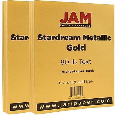 Jam PaperMD – 32 lb, papier Stardream, 8 1/2 x 11 po, doré, paquet de 50 feuilles