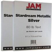 Jam PaperMD – 32 lb, papier Stardream, 8 1/2 x 11 po, argenté, paquet de 50 feuilles