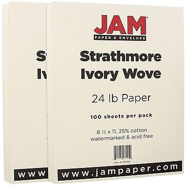 Jam PaperMD – Papier en vélin Strathmore, 8 1/2 x 11 po, ivoire, paquet de 200 feuilles