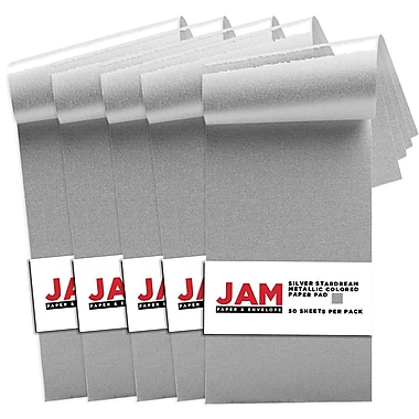 JAM Paper® Paper Pad, 3 x 6, Stardream Silver, 250/Pack (211628158g)