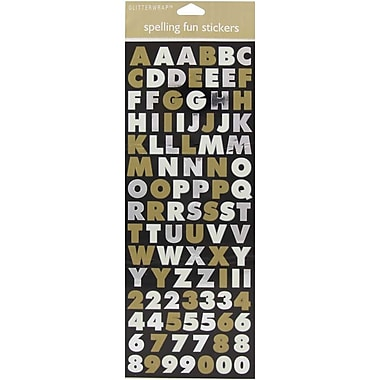 JAM Paper® Self Adhesive Alphabet Letters Stickers, Gold and Silver, 10/Pack (2132816503g)