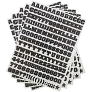 JAM Paper Self Adhesive Alphabet Letters Stickers, Black, 5 packs of 372/sheet (2132817353g)