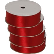 JAM PaperMD – Ruban en satin, 88 po de large x 7 verges, rouge, 4/pqt (2133716391g)
