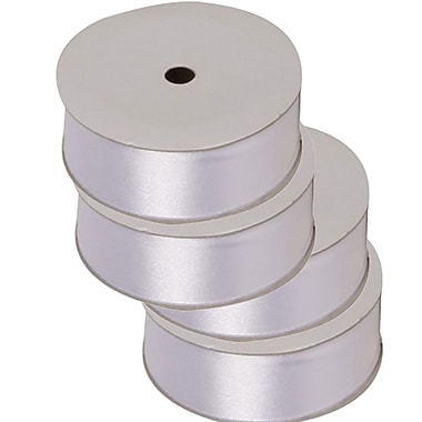 JAM PaperMD – Ruban en satin, 88 po de large x 7 verges, blanc, 4/pqt (2133716395g)