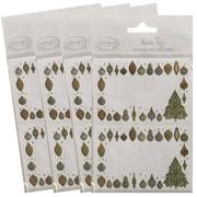 JAM PaperMD – Étiquettes-cadeaux porte-nom avec décoration dorée, 2 1/4 x 3 1/2 po, 2/p, 96/paquet