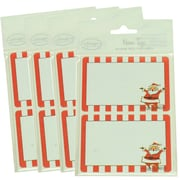 JAM Paper® Christmas Holiday Gift Label Name Tag Stickers, 2.25 x 3.5, Red Santa, 4 packs of 24 (2167215458g)