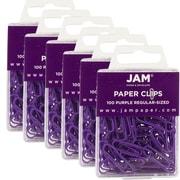 Jam PaperMD – Trombones de taille standard, violet, 600/boîte