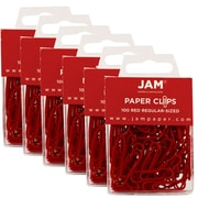 Jam PaperMD – Trombones de taille standard, rouge, 600/boîte