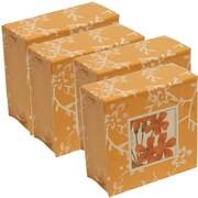 JAM Paper® Paper Pads, 4 x 4 Cube, Orange, 4/Pack (2191815323g)